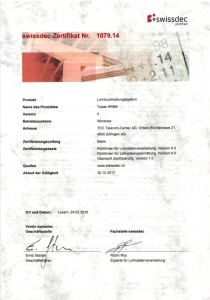 Swissdec Zertifikat